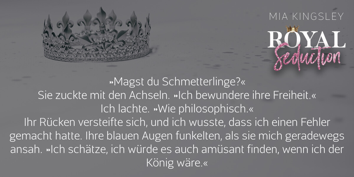 Teaser zur Daddy-Romance Royal Seduction.